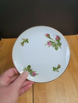 Wentworth China Bread Plate White with Pink Roses #7559 - $3.22