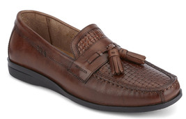 Mens Dockers Hillsboro Antique Brown Leather Slip On Shoes [90-38057] - $69.99
