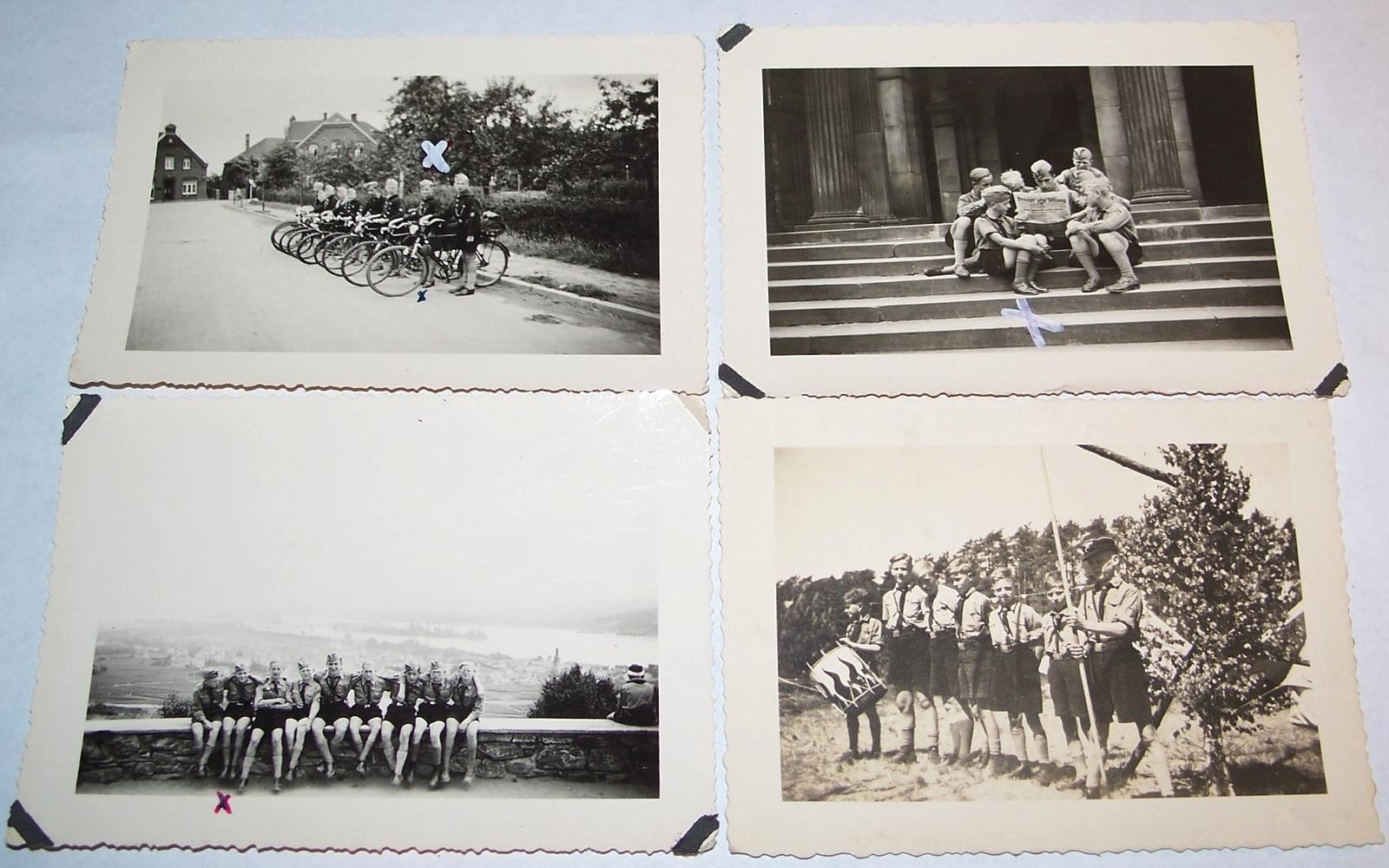 33 ORIGINAL HITLER YOUTH PHOTOS GROUPING FROM 1 BOY, 1936-39