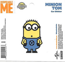 Despicable Me Minion Tom Figure Peel Off Car Sticker Decal NEW UNUSED - $2.95