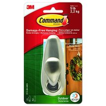 Command 1 Hook 2 Strips Outdoor Forever Classic Large Metal Hook image 11