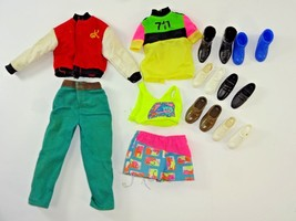 Vintage Ken Doll Red Letterman's Jacket + 6 Pairs of Shoes & Other Fashions - $21.11
