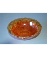Imperial Glass Marigold Star & File Carnival Glass Berry Serving Bowl - $19.80