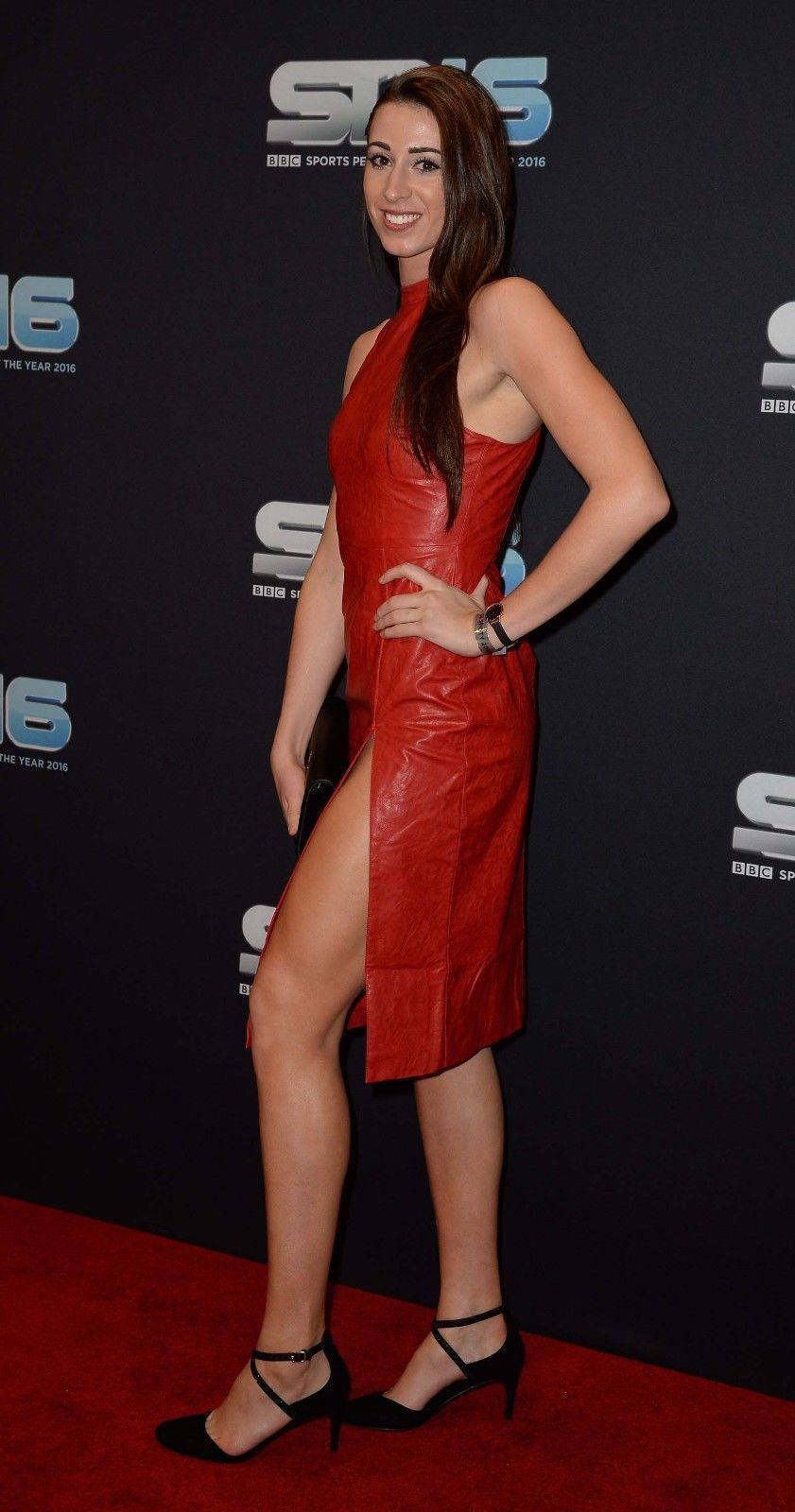 Bianca Walkden Celebrity Hot Women\'s Genuine Leather Cocktail Party ...