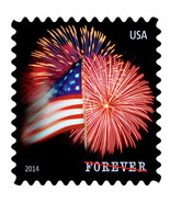 2014 49c The Star-Spangled Banner Fireworks Booklet Single Scott 4855 Mi... - $23,83 MXN