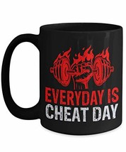 PixiDoodle Fitness Coach Exercise Foodie Gift Coffee Mug (15 oz, Black) - $21.99