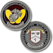 "Marine Corps Recruit Depot Parris Island 1.75"" Challenge Coin - $18.04"