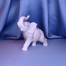 Grey Ceramic Elephant Figurine w/Comp Box - $17.00