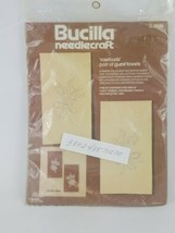 BUCILLA needlecraft embroidery kit Rosebuds pair of Guest Towels set 2 NIP - $14.99