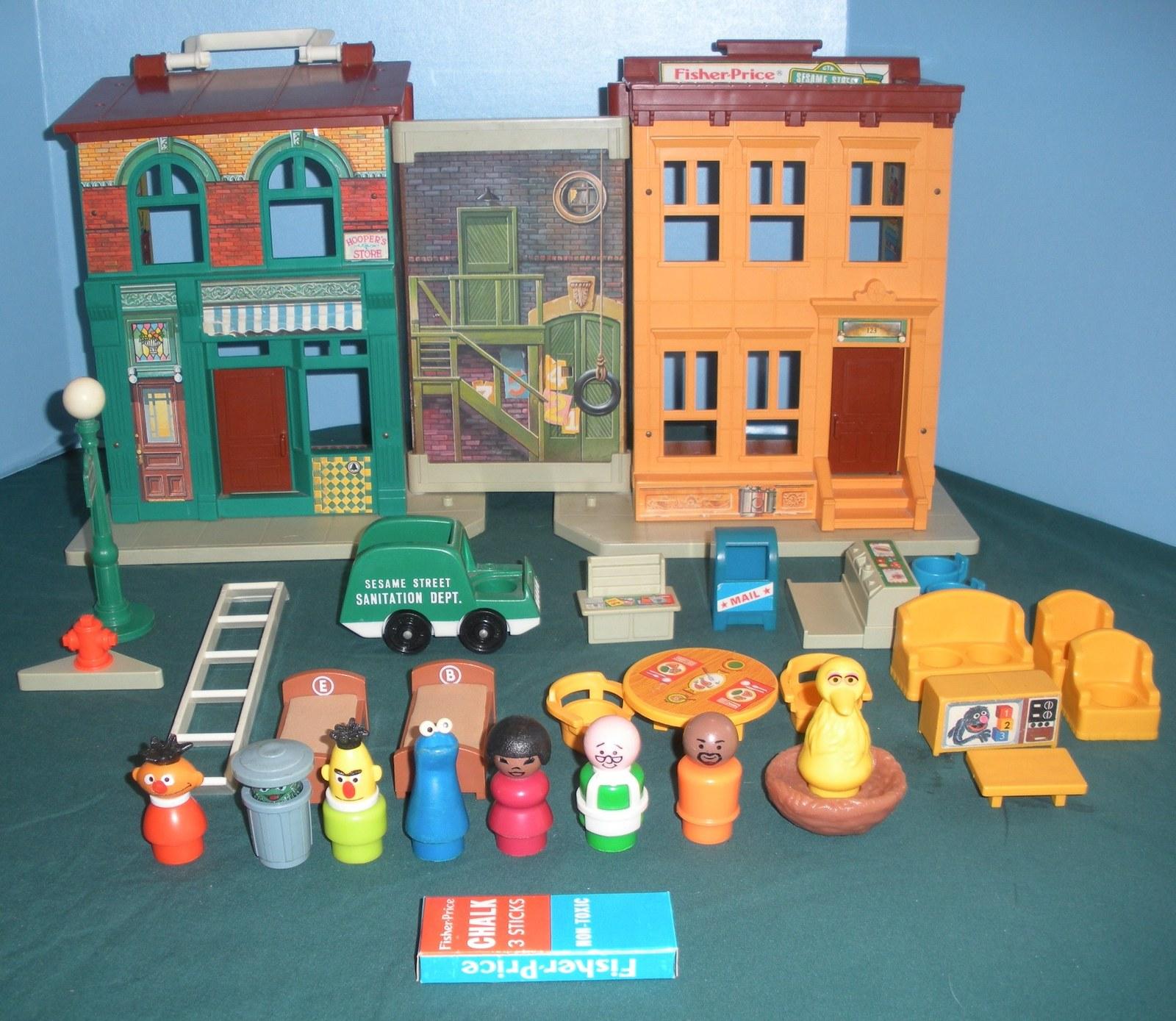 Vtg. Fisher Price #938 Sesame St. House 99% Comp./EXC++-NR MT! (Restored) (T)