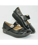 Alegria Size 38 Paloma Black Silver Design Mary Jane Leather Comfort Nur... - $45.59