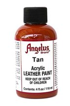 Angelus Acrylic Leather Paint-4oz.-Camel Tan - $13.11