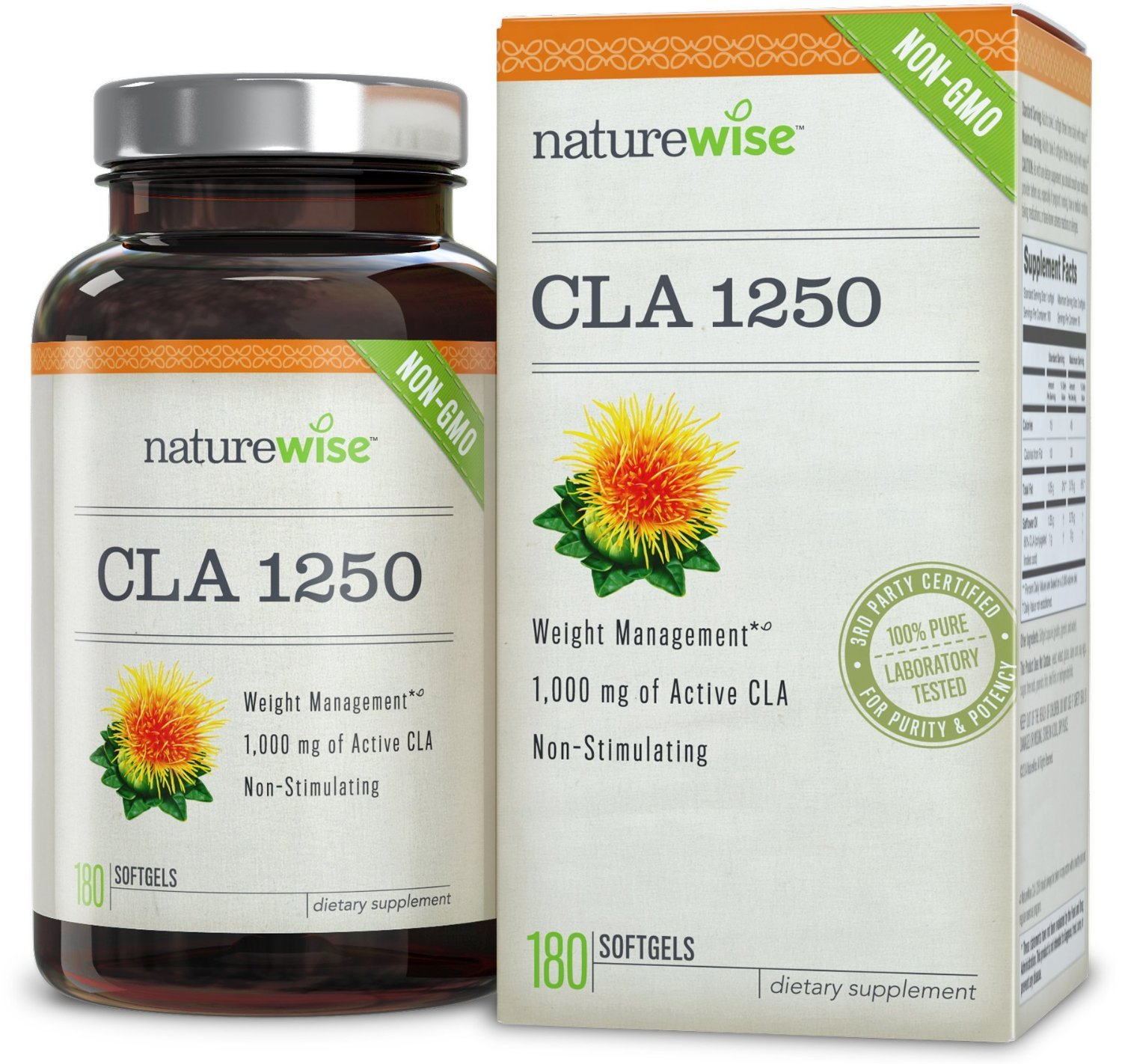 Nature Wise CLA 1250  (180 soft gells) for Weight Loss - $49.99