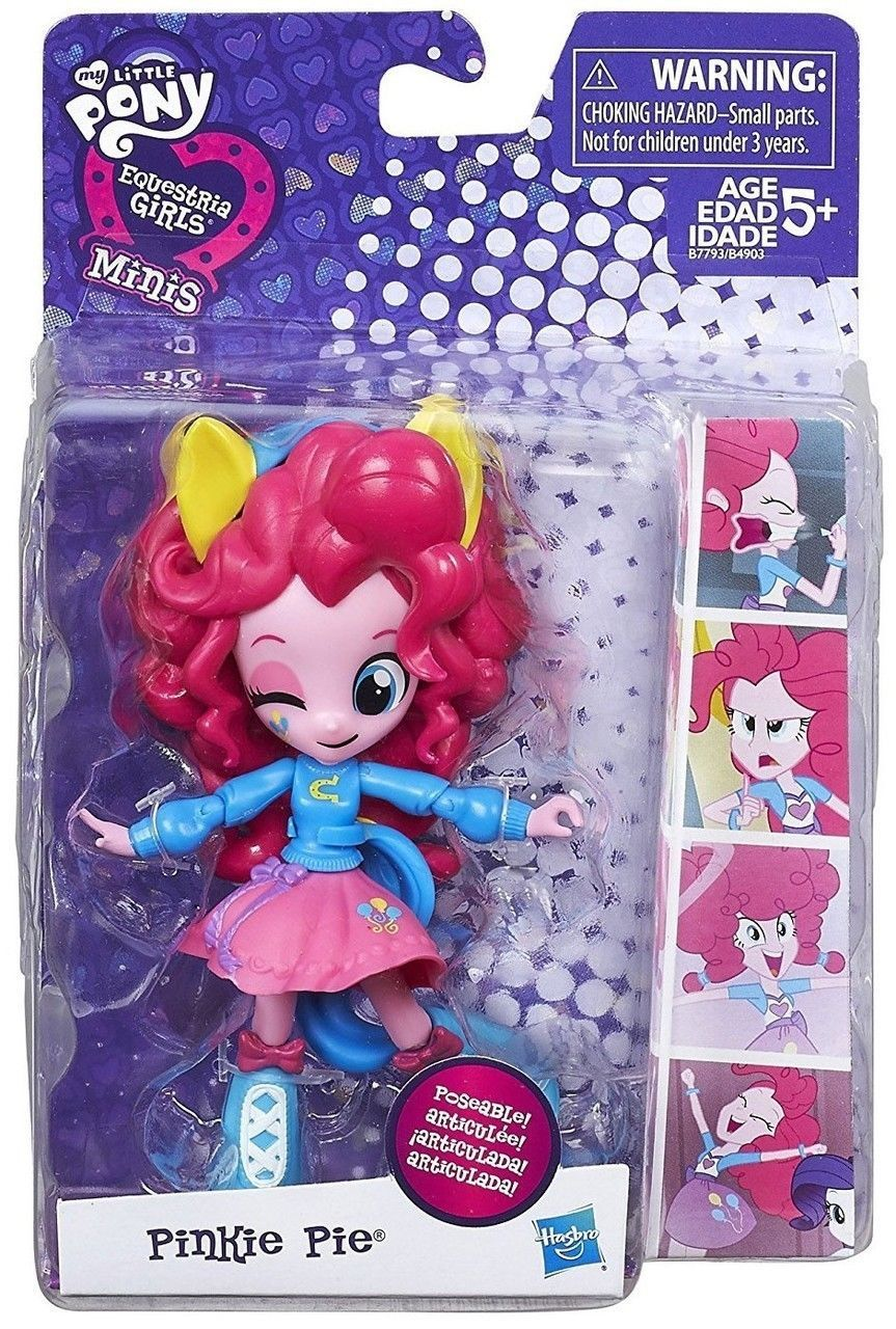 My Little Pony Pinkie Pie Equestria Girls Minis Poseable Doll Figure 2015