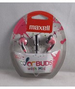 Maxell Color Buds w/ Microphone In-Ear Headphones - Pink - New - $9.49