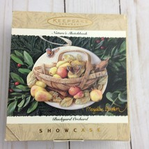 Hallmark Keepsake Ornament Natures Sketchbook Background Orchard Showcase qk1069 - $15.84