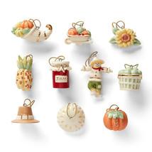 Lenox Autumn Favorites Miniature Tree Ornaments 10 Thanksgiving Pie Pump... - $69.30