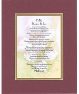 Touching and Heartfelt Poem for Daughters - To My Daughter-in-Law Poem o... - $19.95