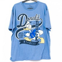 Disney Store Donald Duck Shirt XL Adult Blue Ruffled Feathers League 100% Cotton - $15.70