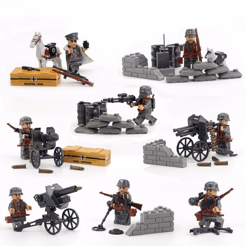 Used, 8pcs World War II Assault Force Specia Force Military toys minifigure lego set for sale  USA