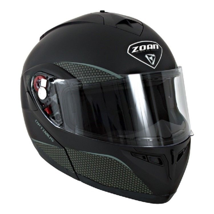 New XS Zoan Optimus Matte Black Modular Snowmobile Snow Helmet 038-033SN