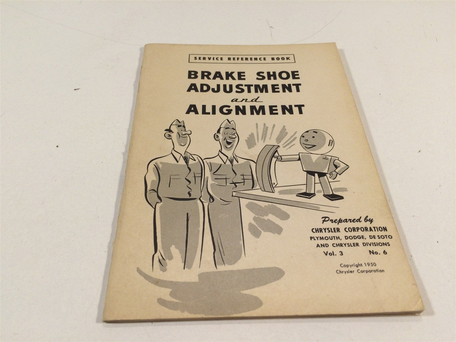 1950 Chrysler Corporation Service Reference Book V 3 No 6 Brake Shoe Adjustment