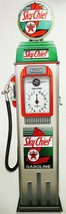 "Sky Chief Clock Face Gas Pump by Michael Fishel Plasma Cut Sign 59"" by 17"" - $395.00"