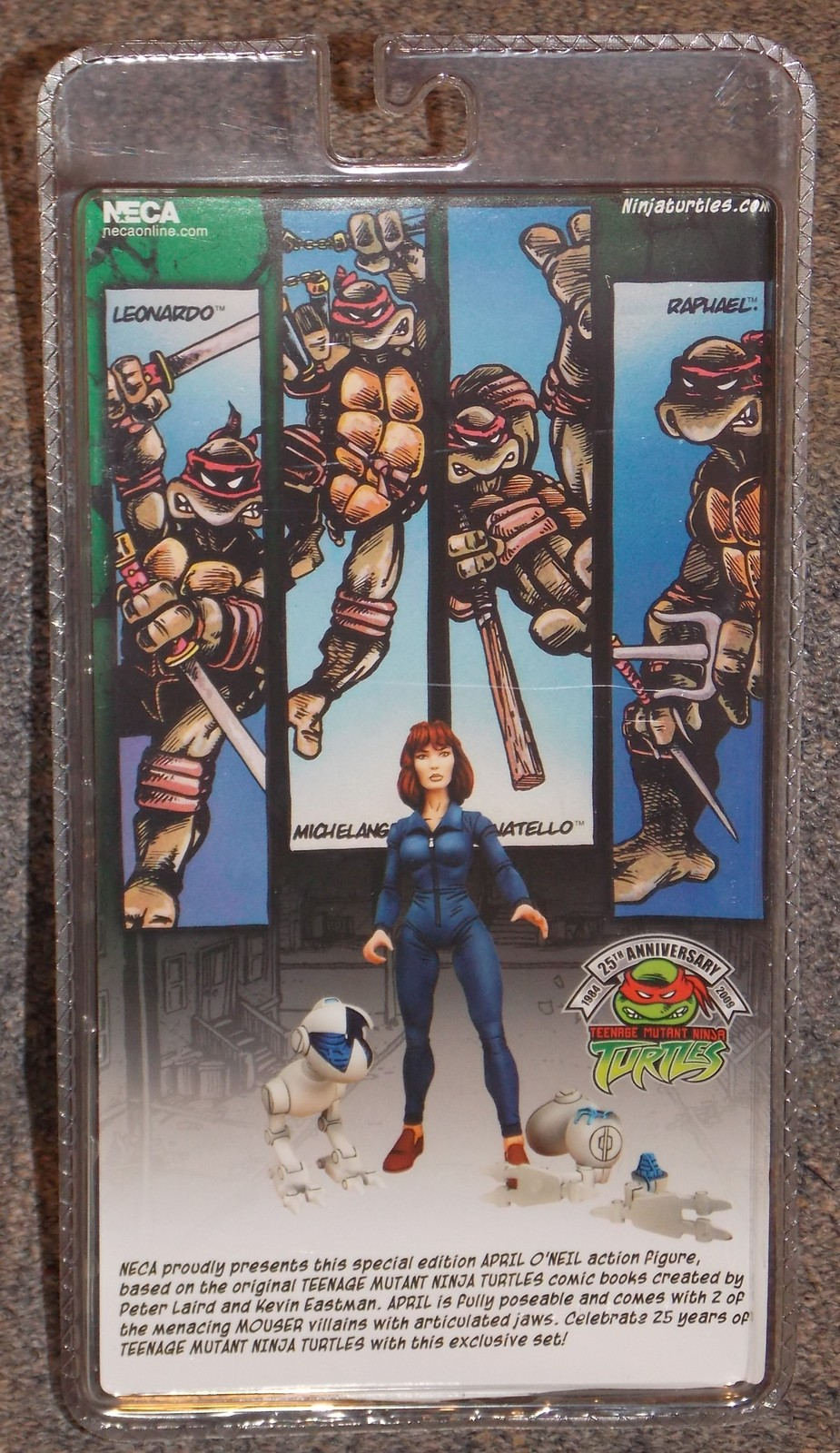 2009 Teenage Mutant Ninja Turtles April Oneil Comic Con Exclusive Figure NIP