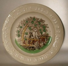 Staffordshire ABC Child's Plate with Girls and Dog - $30.00