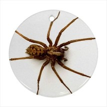 Giant House Spider Round Porcelain Ornament - Holiday Seasons - $7.71