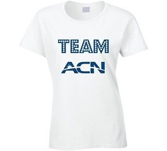 ACN Women's Fitted T Shirt Network Marketing Tee Novelty Clothing New - $18.78+