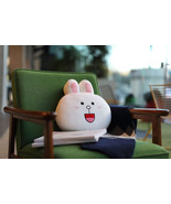 "LINE Friends Character White Cony 12"" Face Cushion Doll 30cm Home Deco B... - $33.65"