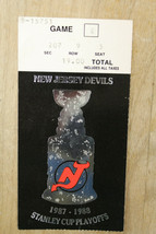 1987/88 New Jersey Devils Stanley Cup Playoff Ticket Game E  - $78.21