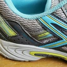 Asics Women Gel-Venture 5 Silver Grey Turquoise Lime Punch T5N8N Shoe 7   - $18.48