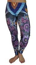 BadAssLeggings Women's Digital Art XI Leggings Medium Black - $19.79