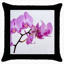 Pink Orchid Throw Pillow Case - $16.44