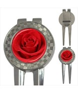 Red Rose Flowers 3-in-1 Golf Divot Tool - $11.63
