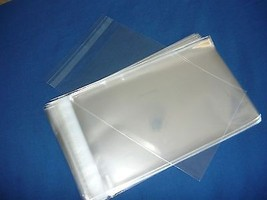 200 5x7  SELF SEAL FLAP TAPE CLEAR POLY BAGS PO... - $9.99