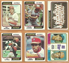 1974 Topps Houston Astros Team Lot Jim Wynn Cesar Cedeno Bob Watson Lee ... - $8.25