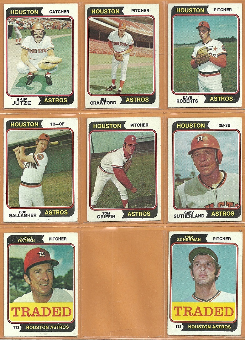 1974 Topps Houston Astros Team Lot Jim Wynn Cesar Cedeno Bob Watson Lee May Ken