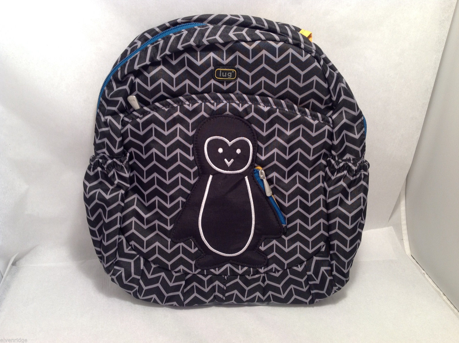 "NWT Lug Kids ""Hokey Pokey"" Backpack Bag Midnight Black Penguin Boys Girls Unisex"