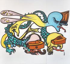 "Salvador Dali ""Puzzle of Life (Idra a Tre Teste)"" 1974 - Large Signed Print - $6,000.00"