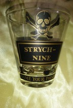 Georges Briard Name Your Poison SKULL & BONES Strychnine  RARE GLASS - $74.99