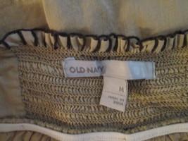 Womens Sundress Medium Old navy Tan w/ floral trim TF149/ALS - €8,77 EUR