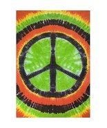 Sunshine Joy Rasta Tie-Dye Peace Sign Tapestry - 60x90 Inches - Dorm Dec... - $27.95