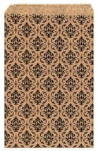 """100 pcs Damask Paper Gift Bags Shopping Sales Tote Bags 5"""" x 7"""" Brown wi... - $14.84 CAD"""