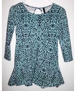 FULL TILT Shirt LARGE Junior Fit & Flare Teal 3/4 Sleeve Southwest Print... - $10.88