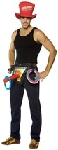 Ring Toss Costume Adult Sleeveless Top Hat Halloween Unique Funny Naught... - £40.26 GBP