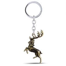 Game of Thrones House Baratheon 3D Logo Silver 6cm Metal Keychain Keyring - $8.58