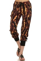 Women's Yelete Melted Gold Print Jogger Pants with Pockets USA SELLER - $9.95